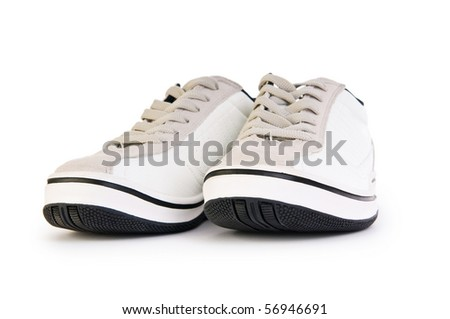 Sporty shoes isolated on the white background