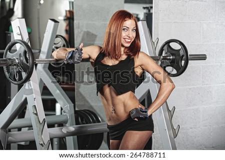 sporty woman - stock photo