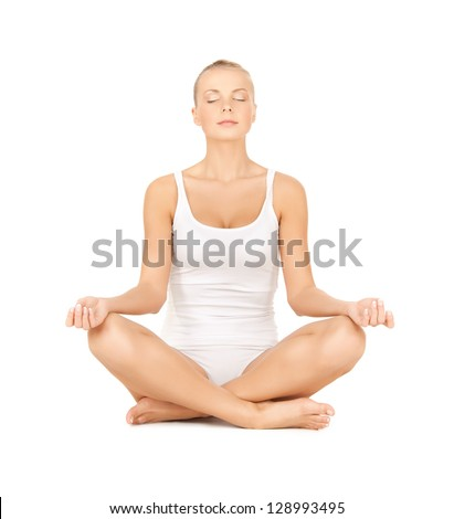 lotus pose stock photos images  pictures  shutterstock