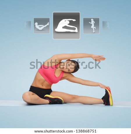 Virtual fitness trainer stock images royalty free images for Virtual flooring app