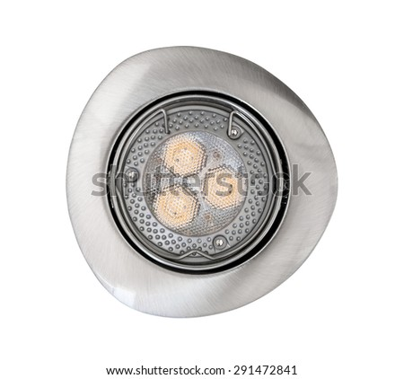 Spot ceiling led light isolated on white background with clipping path - stock photo