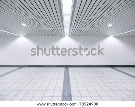 Spot light and blank wall - stock photo
