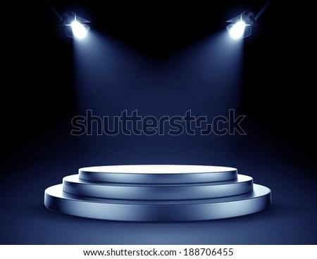 Spot light stage - stock photo