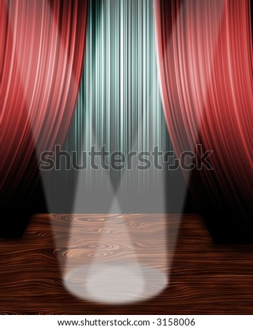 Spot Lights on stage - stock photo