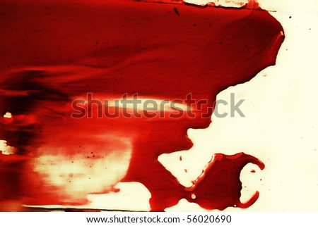spot of red blood on white close up - stock photo
