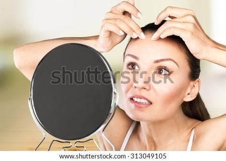 Spot treatment. - stock photo