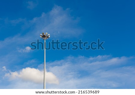 spotlight and sky - stock photo