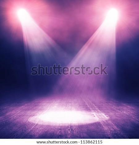 Spotlight  background - stock photo