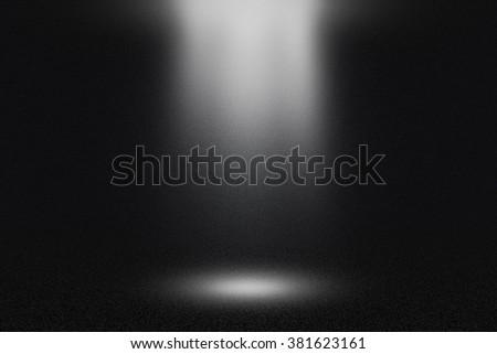 Spotlight Dark Background - stock photo