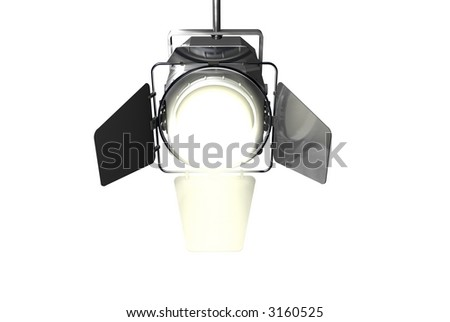 Spotlight Face on with White beam - stock photo
