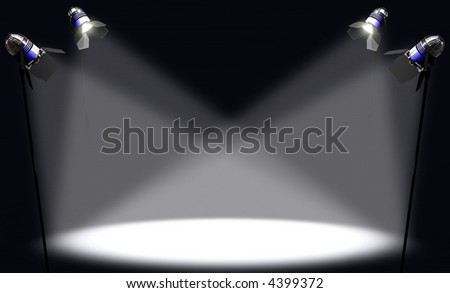 Spotlight. Image concept of something of prominence. You can place any thing in the light. - stock photo
