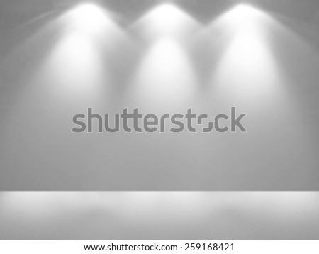 Spotlight in empty space