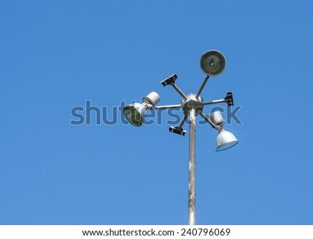 spotlight in park - stock photo