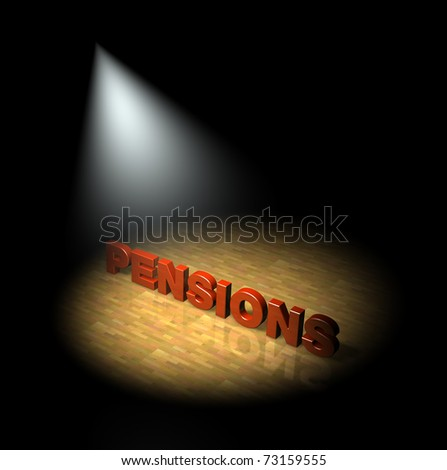 Spotlight on pensions - stock photo