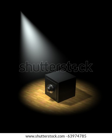 Spotlight on the banks and savings and investments - stock photo