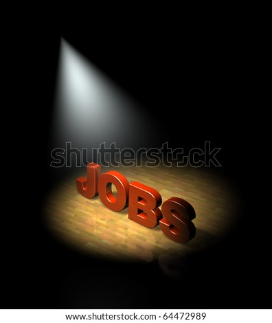 Spotlight on the jobs market - stock photo