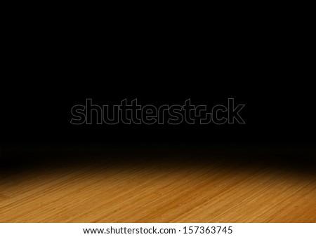 Spotlight on Wooden Floor - stock photo