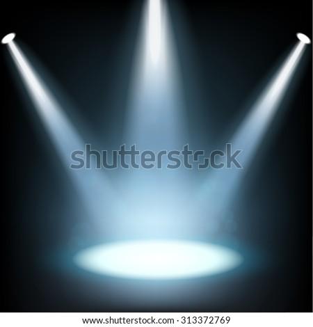 Spotlight shining - stock photo