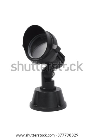 Spotlights Black Isolated on white background