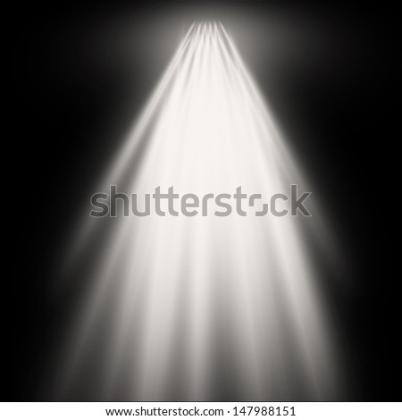 spotlights on a dark background - stock photo