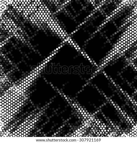 Spotted abstract background halftone effect