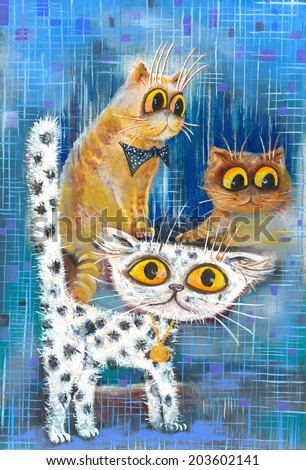 Spotted cat - stock photo