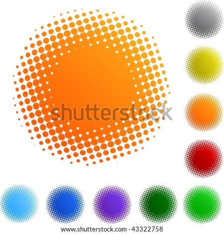 spotted flash set on white background - stock photo