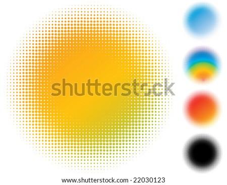 Spotted gradient flash. Design element. Raster illustration. - stock photo