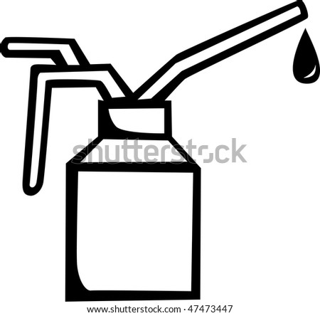 spout oil can applicator - stock photo