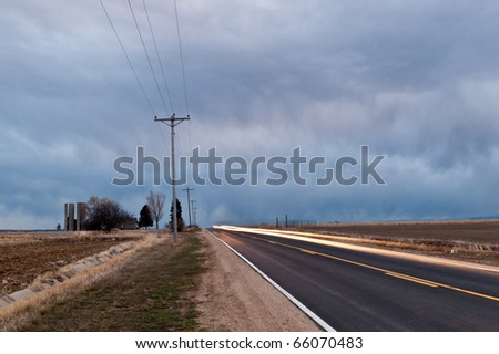 Sppeding By On  A country Road - stock photo