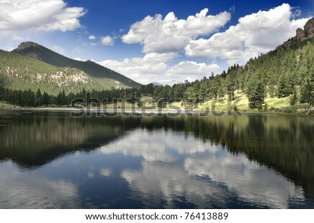 Sprague Lake in Rocky Mountain National Park Estes Park, Colorado