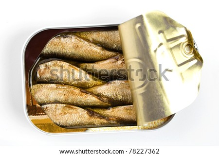 Sprattus, small oily fish - stock photo