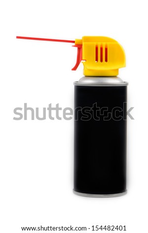 Spray aerosol can isolated on white background - stock photo
