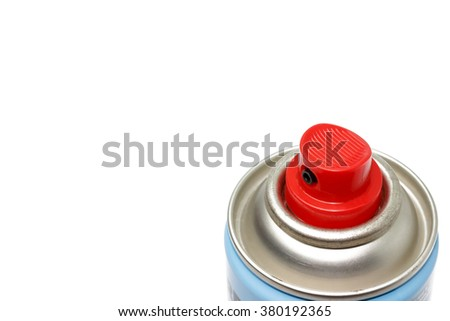 spray can isolated on white background. - stock photo
