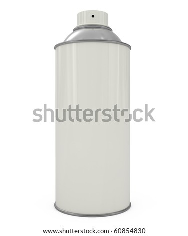 Spray Can isolated on white - 3d illustration - stock photo
