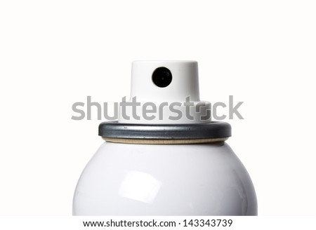 spray can with nozzles isolated on white - stock photo