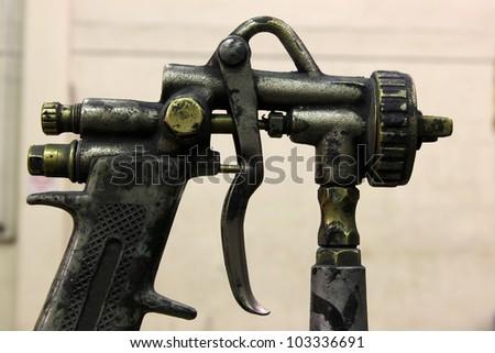 spray gun - stock photo