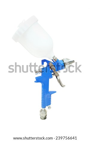 spray gun car isolated under the white background - stock photo