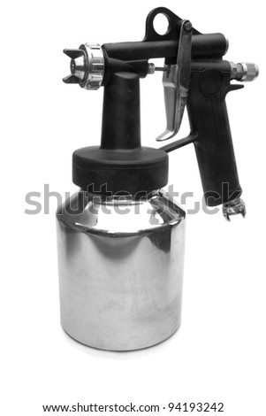 Spray gun isolated on a white background - stock photo