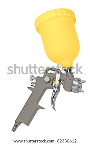 spray gun to paint. isolated on a white background. - stock photo