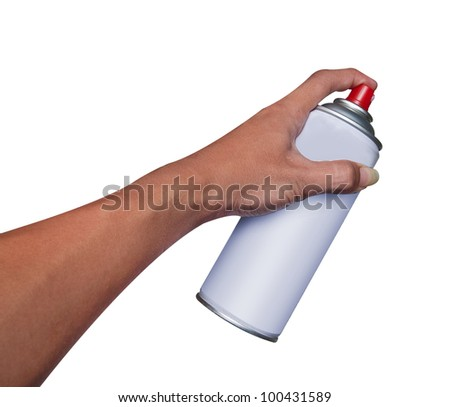 spray hand - stock photo