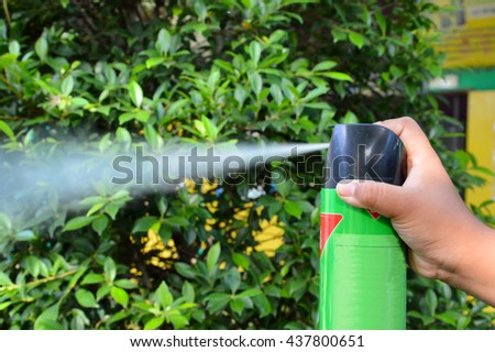 Spray insecticide - stock photo