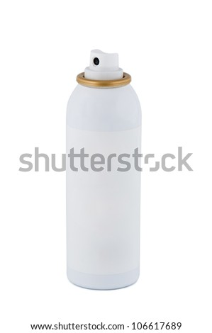 Spray isolated on a white background. - stock photo