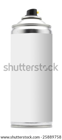 Spray on white with a blank space - stock photo