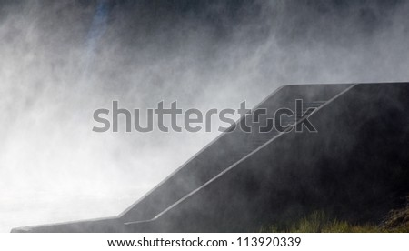 Spray over steps