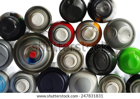 spray paint can 2 - stock photo
