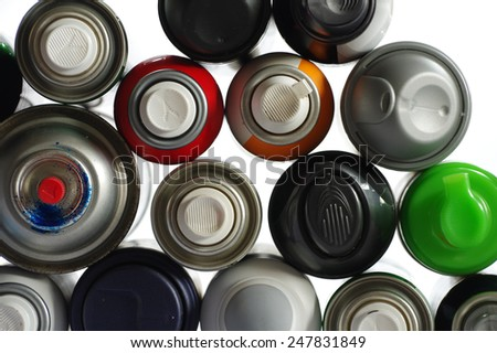 spray paint can 4 - stock photo