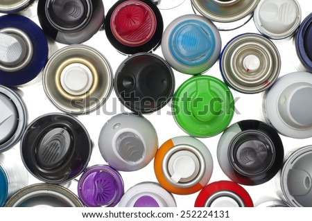 spray paint can objects - stock photo