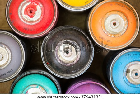Spray Paint Cans - stock photo