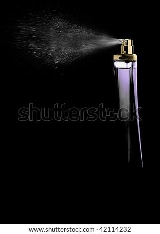 Spray perfume - stock photo